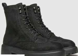 Schuh black anabelle brogue lace up boots (Low Stock in Sizes 3 / 4 & 6 Only) - £12.99 (Free Click+Collect) @ Schuh