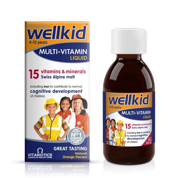 Vitabiotics Wellkid Multivitamin Liquid 150ml - 3 for 2 (free delivery + 10.6% TCB) @ Vitabiotics
