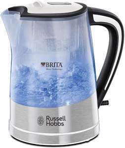 Russell Hobbs 22851 BRITA Filter Purity Kettle, 3000 W, Transparent + Cartridge Included - £11.66 / +£4.49 non Prime @ Amazon