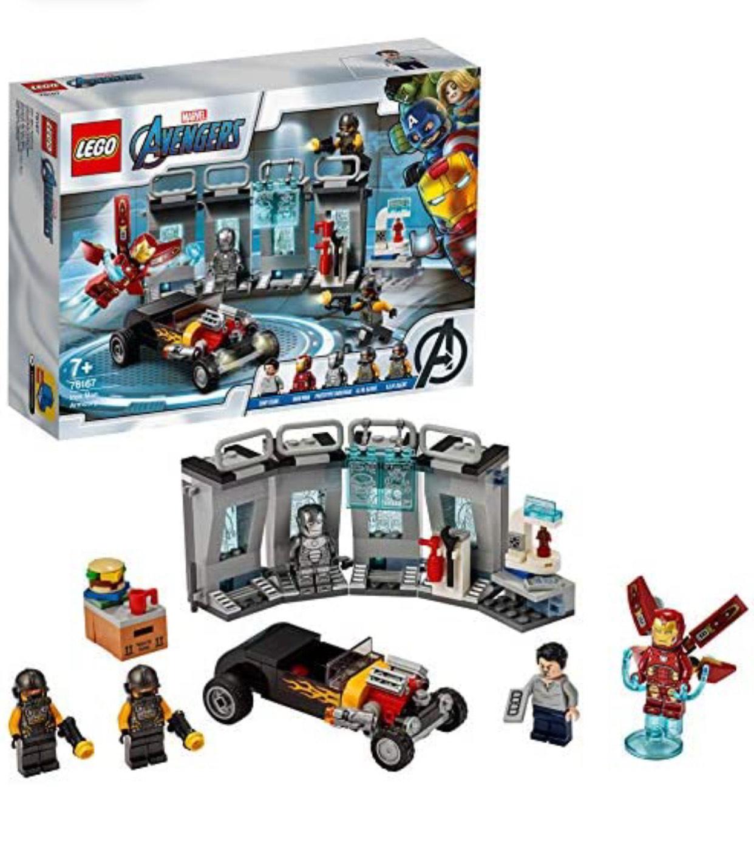 LEGO Marvel Avengers 76167 Iron Man Armory, Hall of Armor Extension set £13.72 Prime / +£4.49 non Prime at Amazon
