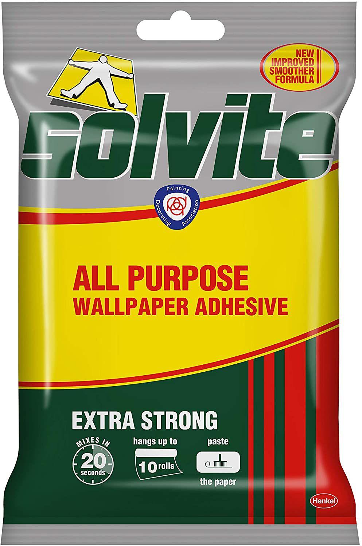 Solvite All-Purpose Wallpaper Adhesive Paste Hangs Upto 10 Rolls 185g Sachet £2 (£4.49 p&p non prime) £1.90 s&s @ Amazon