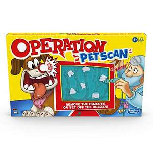 Operation Pet Scan Board Game With Silly Sounds, Remove the Objects or Get the Buzzer - p&p £4.99 for non-prime - £11.99 delivered @ Amazon