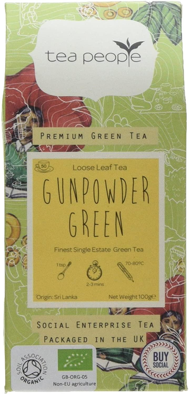 Tea People Organic Gunpowder Green 100g Loose Tea pack (50 cups worth) £2.40 (+£4.49 Non-Prime) @ Amazon