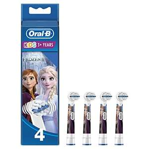 Frozen - Oral B replacement toothbrush heads (pack of 4) - £5.86 (+£4.49 Non Prime) @ Amazon