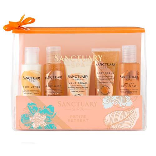 Sanctuary Spa Vegan Gift Set, Travel Bag with Shower Gel, Body Scrub, Body Lotion, Bubble Bath £5.18 (+£4.49 Non-Prime) @ Amazon