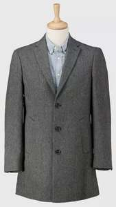 Grey Herringbone Wool Blend Regular Fit Epsom Coat - £30 with free click and collect from Argos (£3.95 delivery)