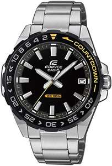 Casio Edifice Mens Analogue Quartz Watch ,Black/ Silver - £36.40 with voucher @ Amazon