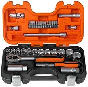 Bahco S330 Socket Set 34 Piece 1/4 and 3/8 Square Drive £15.51 (+£4.49 nonPrime) at Amazon