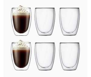 Bodum PAVINA Double Walled Thermo Glasses, 0.36 L, 12 oz, Pack of 6 - £28.82 @ Amazon