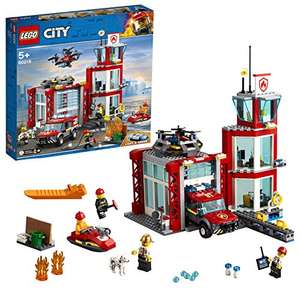 LEGO 60215 City Fire Station Garage Building Set with Truck Toy, Water Scooter, Drone and 3 Firefighter Minifigures £28.45 @ Amazon