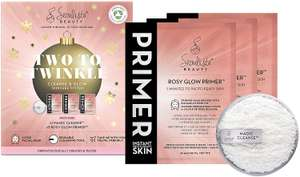 Seoulista Beauty Two To Twinkle Cleanse and Glow Skincare System Three Rosy Glow Priming Mask Gift Set £5.41 (+£4.49 Non-Prime) @ Amazon
