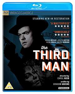 The Third Man Blu-ray (1080p resolution, from new 4K master) - £4.14 (+£2.99 Non Prime) @ Amazon
