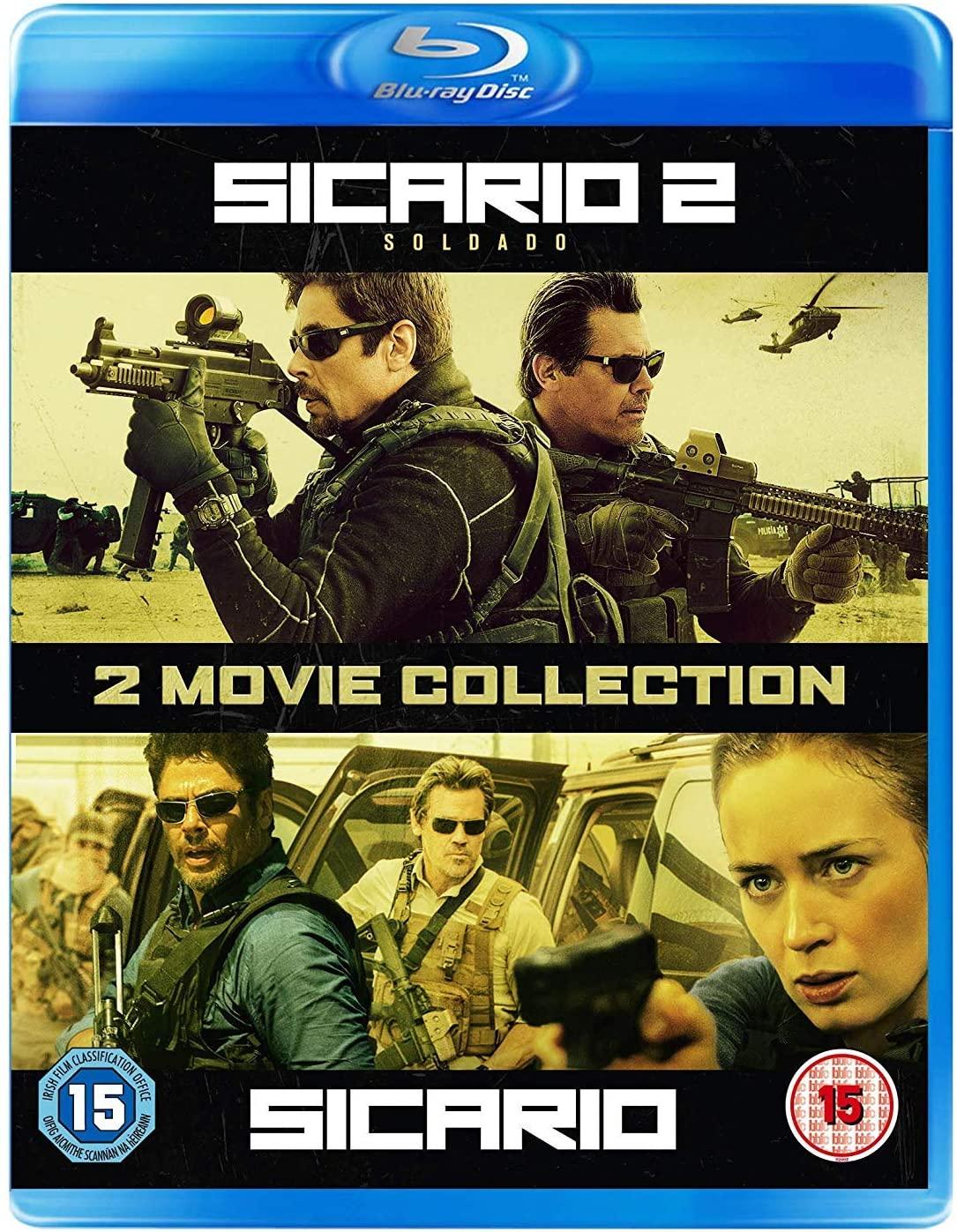 Sicario / Sicario 2: Soldado - 2 Movie Collection [Blu-ray] [2018] £4.15 (+£2.99 nonPrime) at Amazon