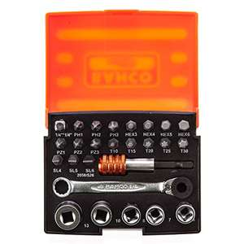 Bahco 2058/S26 Ratchet Socket Bit Set, 26 Pieces - £8.49 (+£4.49 non prime) @ Amazon