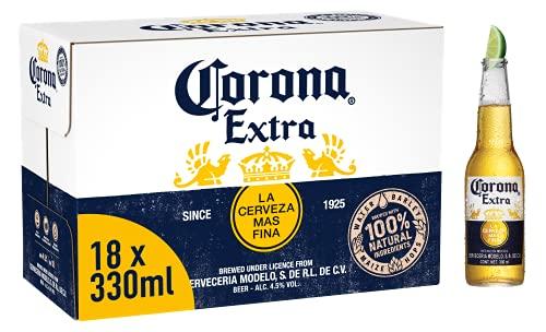 Corona Extra Mexican Lager Beer Bottle, 18 x 330ml £6.80 (+£4.49 Non Prime) @ Amazon