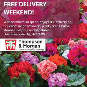 Free Delivery On Flowers, Plants, Seeds, Bulbs, Shrubs, Trees, Fruit & Veg - No Min Spend - Items From 99p (Seeds) @ Thompson & Morgan