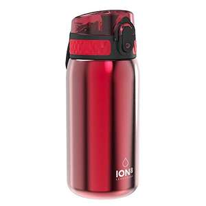 Ion8 Leak Proof Slim Water Bottle Stainless Steel, Red 400ml £3.52 or 600ml £3.73 (+£4.49 nonPrime) at Amazon
