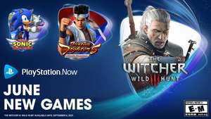 PS Now for June - Virtua Fighter 5 Ultimate Showdown, Team Sonic Racing, Sonic Mania, Sonic Forces, The Witcher 3: Wild Hunt GOTY