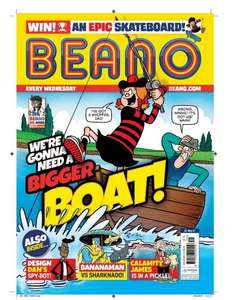 Weekly Beano comics for 13 weeks for £10 at Beano Shop