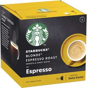 Starbucks Espresso Roast Blonde Roast Dolce Gusto Coffee 15x12 coffee Pods (BBE 31.07.2020) £15 (£22.50 min spend) + £3 p&p @ Approved Food