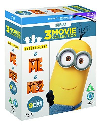 Minions Collection (Despicable Me/Despicable Me 2/Minions) [Blu-ray] £6.10 + £2.99 NP @ Amazon