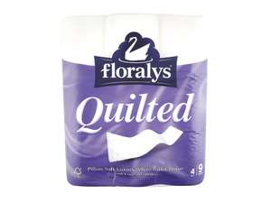 Floralys 4-ply Quilted Toilet Roll 9 Pack £1.99 @ Lidl Northern Ireland from 29th