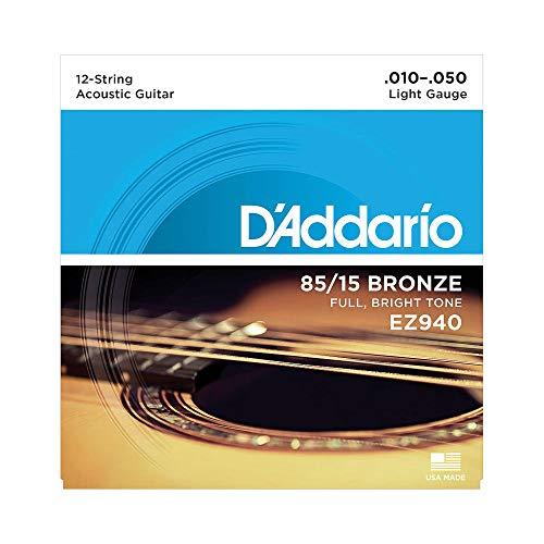 D'Addario EZ940 Great American Bronze Light (.010.-050) 12-String Acoustic Guitar Strings £3.81 Prime / £8.30 Non Prime @ Amazon