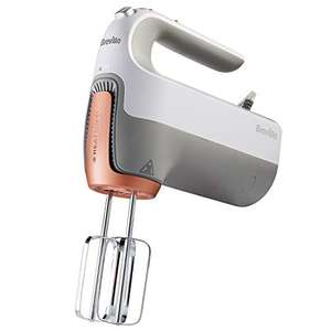 Breville VFM021 HeatSoft Hand Mixer with Whisk, Dough Hooks and Storage Case, 7 Speeds, 270 W Motor - £23.29 delivered @ Amazon