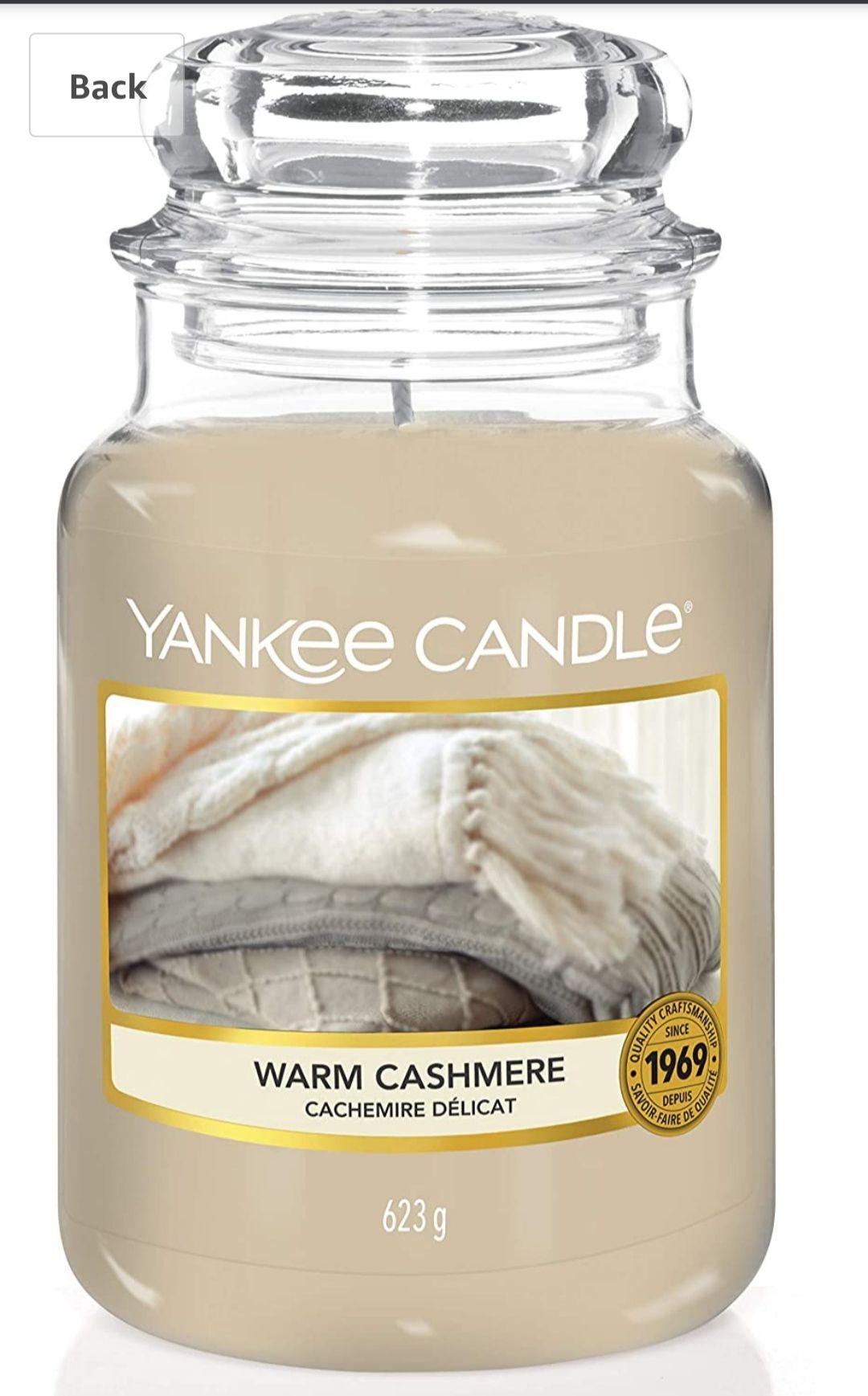 Yankee Candle Warm Cashmere Large Jar Candle £10.96 (+£4.49 non-prime) @ Amazon