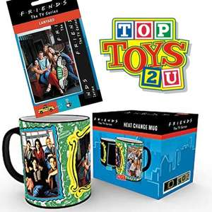 Officially Licensed Friends Heat Mug and Lanyard bundle £7 Delivered using code @ Top Toys 2 U