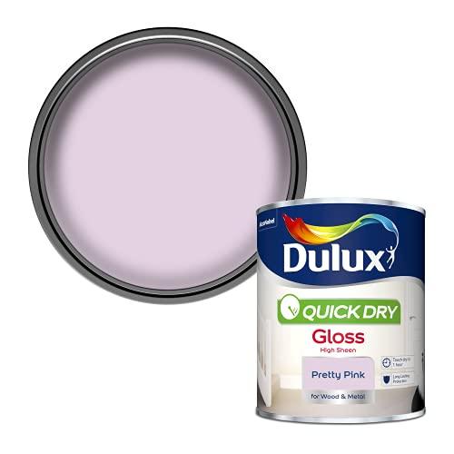 Dulux Quick Dry Gloss Paint - Pretty Pink - 750ML £5.22 @ Amazon