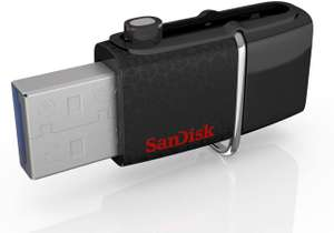 SanDisk Ultra 32GB Memory Stick Dual USB 3.0 Up to 150MB/s Read - £3.43 (+£4.49 Non Prime) @ Amazon