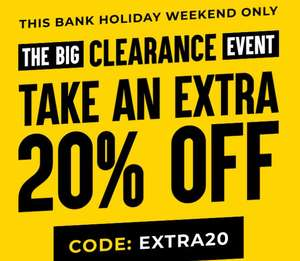 Extra 20% off Up to 70% Clearance Sale with Voucher code From Suit Direct