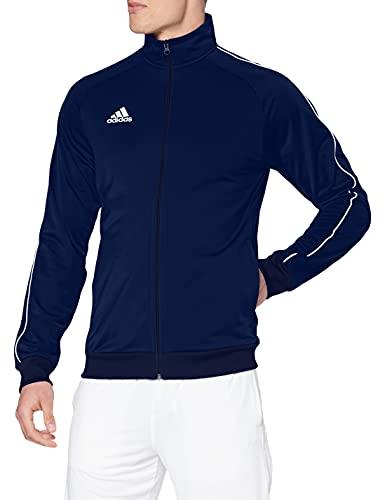 adidas Men's Core 18 Polyester Tracksuit Jacket Medium - Dark Blue/White - £9.94 Prime /+£4.49 Non Prime @ Amazon