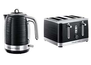 Russell Hobbs 24361 Inspire Electric Kettle, 3000 W, 1.7 Litre, Black with Chrome Accents with 4 Slice Toaster £63.99 @ Amazon