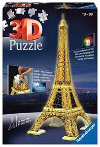 Ravensburger 12579 Eiffel Tower Night Edition 216 Piece 3D Jigsaw Puzzle with LED Lighting £6.93 (Prime) + £4.49 (non Prime) at Amazon