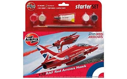 Airfix RAF Red Arrows Hawk starter set - £3.04 (Prime) + £4.49 (non Prime) at Amazon