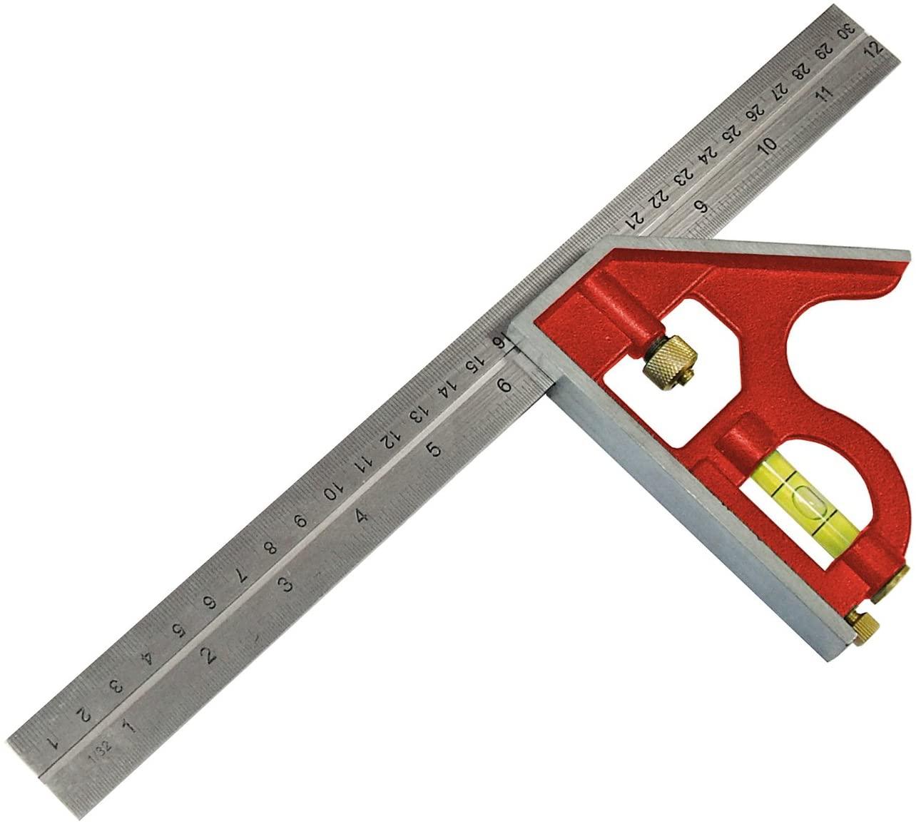 Faithfull CS300 Combination Square 300mm/12-inch - £4.98 Prime /+£4.49 Non Prime @ Amazon