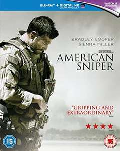 American Sniper [Blu-ray] [2014] [Region Free] Standard Edition - £2.15 Prime / +£2.99 non Prime @ Amazon