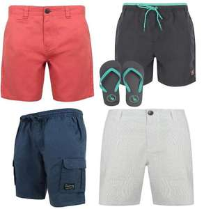 Men's Shorts including Cargo, Denim, Jogger & Swim Shorts + Flip Flops, £8 with Code + £1.99 Delivery (Free on £30 Spend) @ Tokyo Laundry