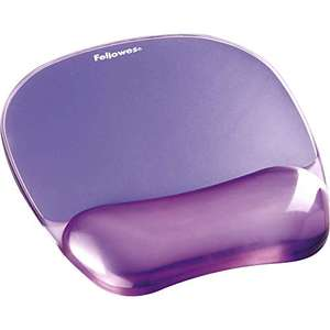 """Fellowes Crystals Gel Mouse Mat with Wrist Support, Purple, 9""""*7.5"""" £5.33 (+£4.49 Non Prime) @ Amazon"""