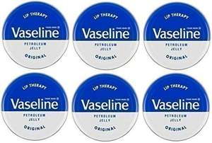 Vaseline Lip Therapy Petroleum Jelly 20g Original x 6 Tins - £4.71 Prime / +£4.49 non Prime Sold by DLM Direct and Fulfilled by Amazon