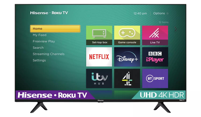 Hisense Roku 55 Inch R55A7200GTUK Smart 4K HDR Freeview TV8 £399 Selected Stores @ Argos