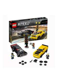 LEGO Speed Champions 2018 Dodge Challenger SRT Demon Car And 1970 Dodge Charger R/T Car £27.99 (£3.99 delivery) @ Very