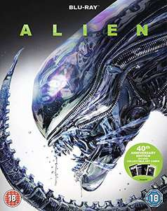 Alien 40th Anniversary Blu-ray with collectible art cards £3.91 (+£2.99 non-prime) @ Amazon