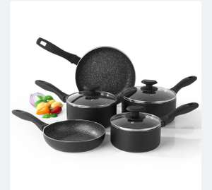 Salter Megastone 5-Piece Pan Set - Black £59.99 (Free delivery with code) @ Robert Dyas