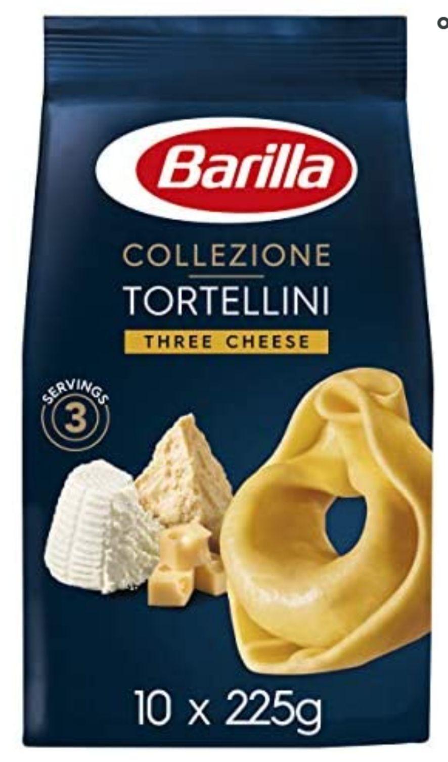 Barilla Pasta, Premium Tortellini Pasta, Three Cheese, Authentic Italian Quality, Pasta Bulk Pack of 10 x 225 g £4.83 + £4.49 NP @ Amazon