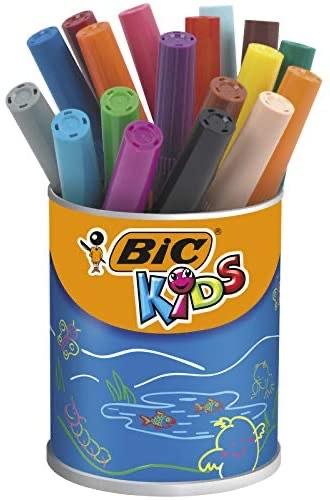BIC Kids Visacolor XL ECOlutions Colouring Pens 18 Pot - £4.02 Prime (+ £4.49 Non Prime) @ Amazon