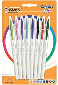 BIC Cristal Up Ballpoint Pens - Assorted Colours, Pack of 8 £2.22 (£4.49 p&p non prime) @ Amazon