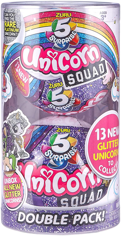 ZURU 5 SURPRISE 7766 Unicorn Squad Series 2 Mystery Collectible Capsule, Twin Pack - £5.70 Prime / +£4.49 non Prime @ Amazon